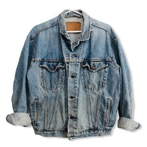 Vintage 80s Levi's Red Tab Denim Jacket DISTRESSED